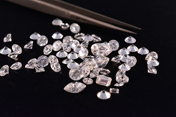 A beautiful assortment of loose diamonds.