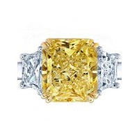 Ring with big yellow stone